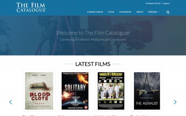 Screenshot of The Film Catalogue website